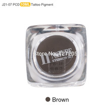 New PCD Permanent Makeup Ink Lip Tattoo Ink Set Eyebrow Microblading Pigment Professional Encre A Levre 10ML 3PCS Brown J21