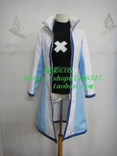 Free Shipping FAIRY TAIL Gray Fullbuster Anime Custom Made Uniform Cosplay Costume coat+underwear