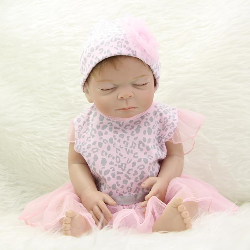 Princess Girl Baby Doll Reborn Sleeping 20 Inch Full Silicone Vinyl Handmade Babies Dolls With Hair Kids Birthday Xmas Gift<br><br>Aliexpress