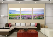 Unframed 3 Piece Lovely Pastoral Landscapes Modular Pictures Poster Oil Painting On The Wall Art Canvas Pictures For Living Room
