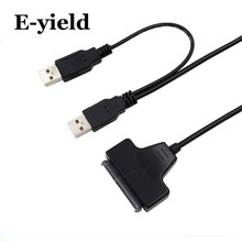 USB2.0 to SATA 15+7 pin  Cable Adapter 2.0 sata cable for 2.5 inch HDD SSD with indicator