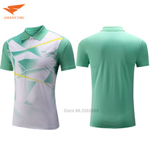 2017/18 new arrival hot sale men badminton shirt table tennis polo T shirts 3 colors tennis clothes sport jerseys for male(China)