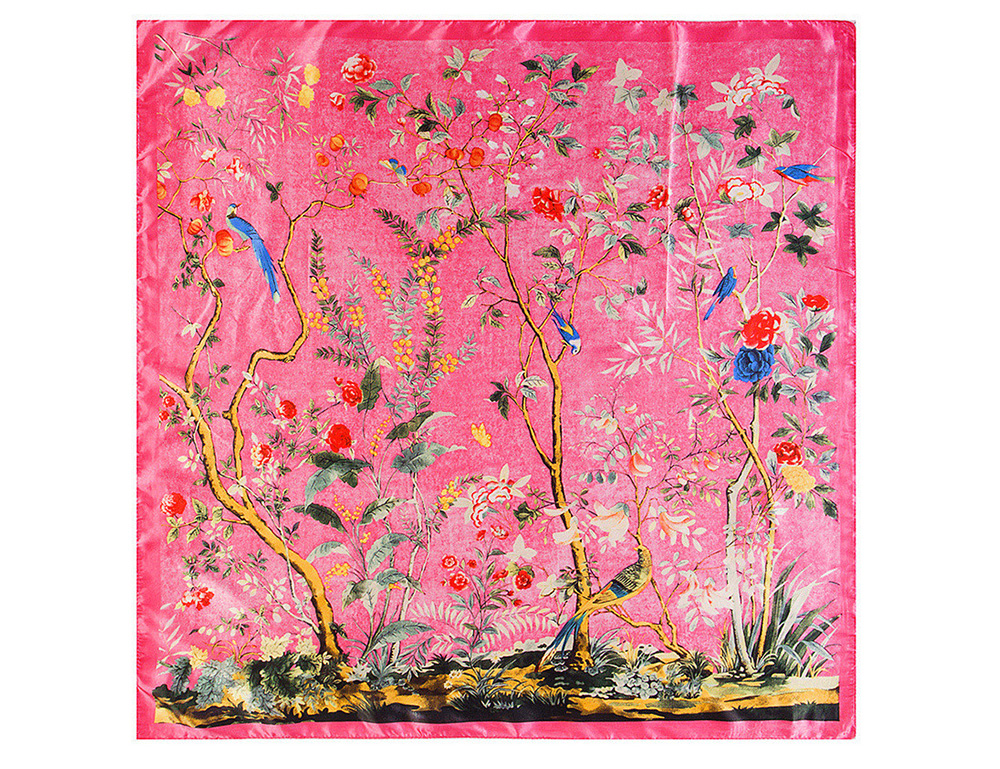 print Silk Scarf  (13)