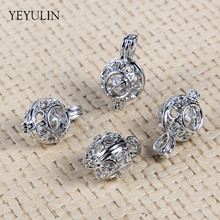 High Grade The twelve palaces of the zodiac Ball shaped Beads Cage Pendant For Making Jewelry DIY 5pcs wholesale(China)