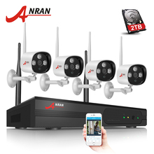 Anran 4CH Security System 1080P HDMI 4CH WIFI NVR 2.0MP IR Outdoor CCTV Security IP Camera Wireless Surveillance System 2TB HDD