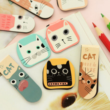 2 pcs DIY Cute cat panda Floral creative quality metal bookmark stationery mark office teachers gifts children school supplies(China)
