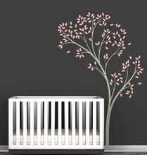 Spring Tree Wall Decal Modern Nursery Kids Baby Room Wall Decor Wall Art Stickers Wallpaper Vinyl Murals Poster Home Decal A217(China)