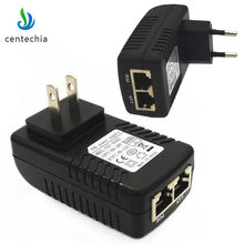 48V-0.5A Wall Plug POE Injector Ethernet Adapter IP Phone/Camera Power Supply For Network Device Power Supply Adapter US/EU Plug(China)