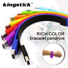 Kingstick pen drive 4GB 8GB 16GB 32GB USB flash drive color silicone bracelet USB Stick USB2.0 Memory stick wristband U disk