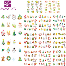 HOTSALE 11Sheet/1 SET Christmas nail sticker DECAL nail art tool for water sticker for water decals nail art stickers(China)