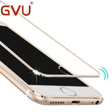 Clear Front Screen Protector For iPhone 6 4.7 inch Tempered Glass Full Cover Curved 3D Edge Titanium For iPhone 6 6S Glass