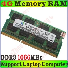 Original Quality Memory RAM PC3-8500S 4g / 4GB 8g 8GB  DDR3 1066MHz FOR Laptop Notebook Apple MacBook PC3-8500 free/ship PROM10