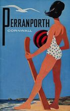 Perranporth Cornwall Surf Sports Travel Vintage Retro Poster Decorative Wall Stickers Posters Bar Home Decor Gift(China)