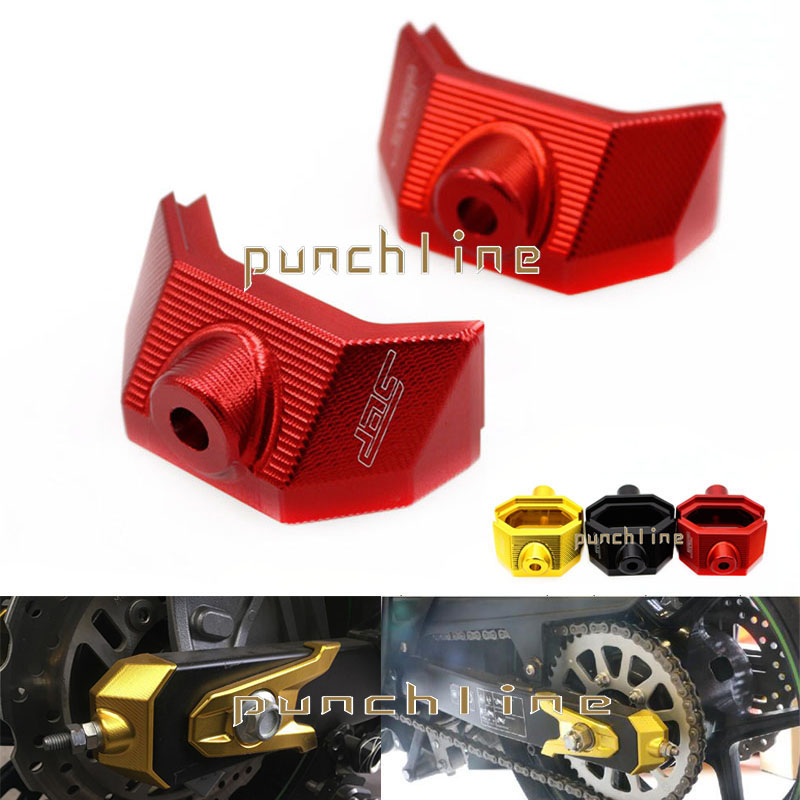 For Kawasaki Z800 Z 800 2013 2014 2015 Motorcycle Accessories CNC Rear Fork Spindle Chain Adjuster Blocks 3 Colors<br>
