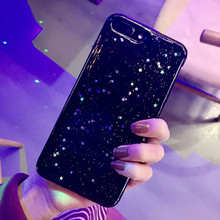 New 2017 Luxury Flash Powder Sequins Star For iphone7 6s 6plus Cover Cases Black Star South Korea Protective Cover(China)
