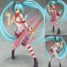 Japan  Hatsune Miku Greatest Idol Ver. Electric Guitar Miku PVC anime cartoon doll Action Figure Collectible Model Toy T5409