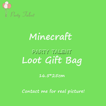 Party supplies 20PCS children kids Mine*craft Minning theme party, party decoration loot gift bag candy bag