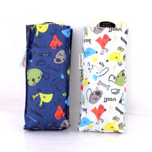 Quality Ultra Light Small Mini Pocket Umbrella Cute Puppy Print Women's 5 Folding Compact Umbrellas Windproof Children Rain Gear