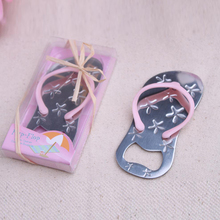 200pcs/Lot+Cheap Wedding Favors Beach Themed Engraved Pink Flip-Flop Wine Bottle Opener Bridal Shower Favor+FREE SHIPPING