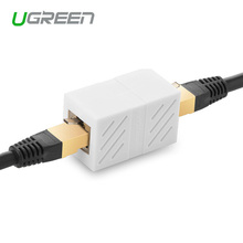 Ugreen Cat6 Ethernet Adapter 8P8C RJ45 Connector Network Extension Cable Adapter for Ethernet Cable Female to Female(China)