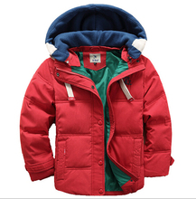 Boys winter Outwear&coats Children Casual jackets Boys thick Winter jacket High quality Boy Winter Coat For 4-10Yrs
