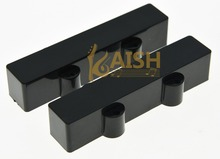 KAISH Set of 2 Sealed Jazz J Bass 4 String Pickup Covers Neck and Bridge Black