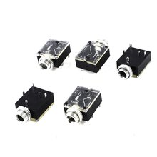 MYLB 5 Pcs 5 Pin 3.5mm Audio Mono Jack Socket PCB Panel Mount for Headphone
