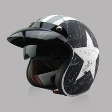 New arrival brand TORC T57 vintage motorcycle helmet scooter open face helmet Captain america 3/4 capacete Italy flag cascos