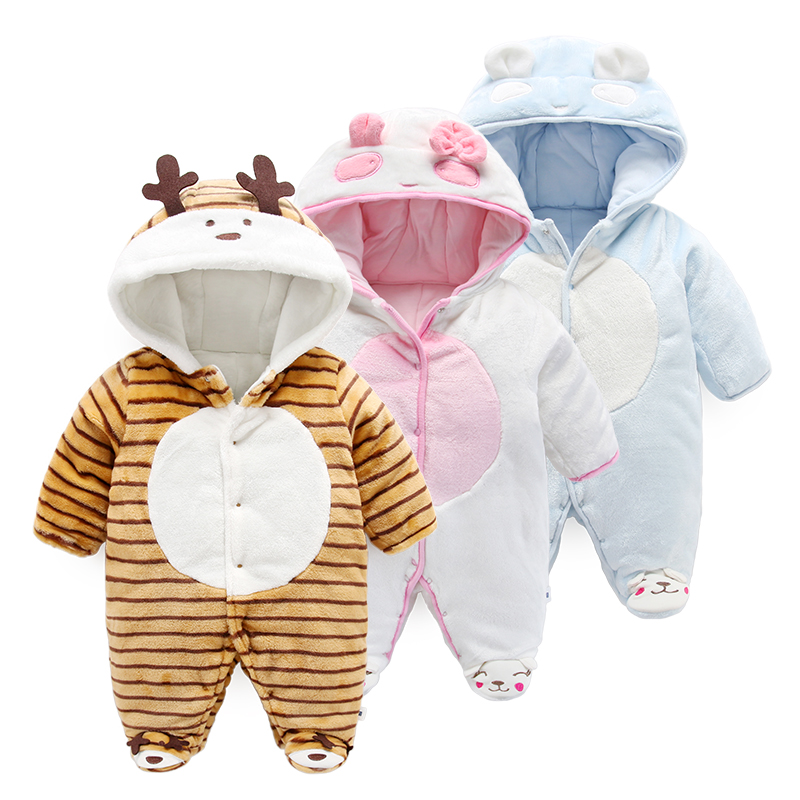 Winter baby clothes long sleeved newborn romper long sleeve cartoon<br>