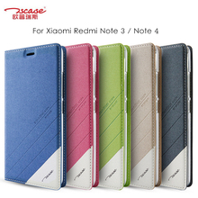 Tscase for Xiaomi Redmi Note 3 / Note 4 Case Magnetic Flip Leather Smart Cover Redmi Note 4 MediaTek Cover Protective Shield