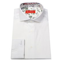 spquare collar pure cotton long sleeve men's custom tailor made french cuff Solid Dress white Shirt bespoke MTM  free shipping