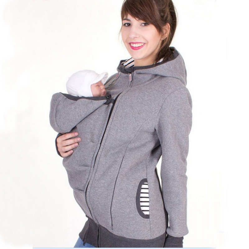 BATTERLOVER 2017 Parenting Baby Carrier Mother Kangaroo Hoodies Women Hoodies Sweatshirt Woman Hooded Sweatshirts Outerwear