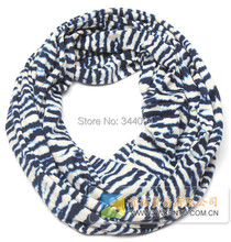 Women knitted Infinity Scarf cotton animal stripe print  Ring Round Loop double sided gift  FREE SHIPPING