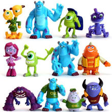 12 PCS Cut Monsters Inc. Monsters University Mike Sully Action Figure Toy Kids Action Figure Toys Robot