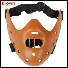 Free shipping High quality resin handicraft mask film theme mask the silence of the lambs Hannibal lecter mask for party cosplay