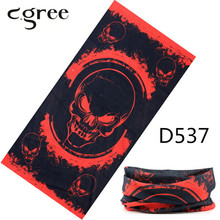 C.gree New Skull Bandana Camouflage Seamless Tubular Motorcycle Tube Neck Face Mask Headscarf Print Bandanas Headband
