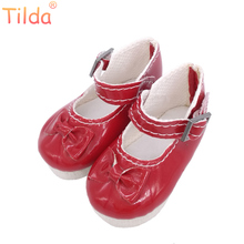 PU Leather Shoes For Paola Reina Doll Toy,1/4 Mini Doll Shoes for Corolle Dolls 5 Pairs/lot Butterfly Design 6cm Toy Doll Shoes(China)