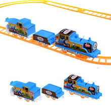 COLORFUL FACE Electrical 3 parts Thomas Train 8 Pcs Railway Track Slot Running FUNNY Toy Child Build Kid family fun(China)