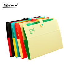 32.5 x 22 x 2.5cm Poly Expanding File Folder Organ Bag A4 Organizer Paper Holder Document Folder School Supplies(China)
