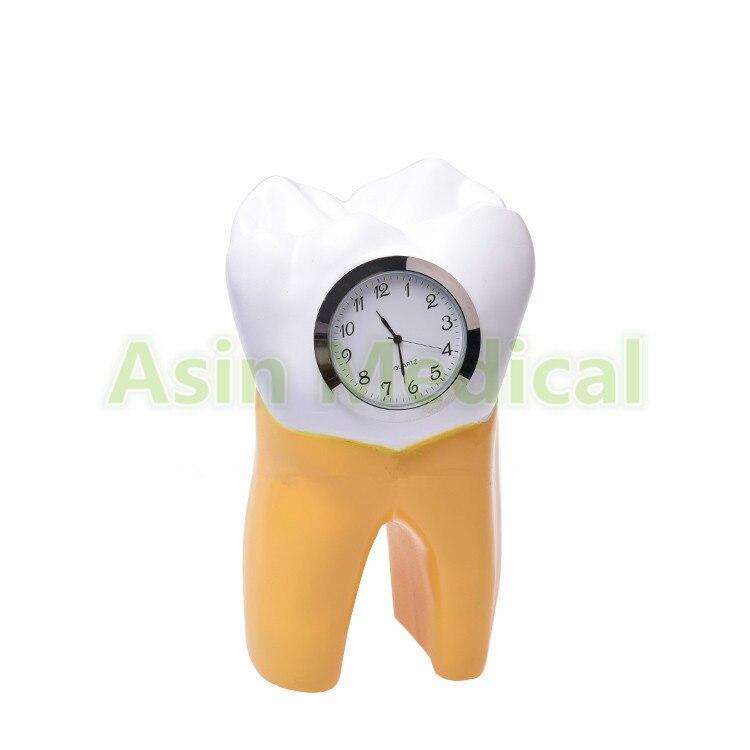 2018 Dental Tooth Clock resin handicraft Dentist Gift Resin Crafts Dental clinic decoration furnishing articles Creative Artwork<br>