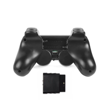 2 x 2.4G wireless game controller gamepad joystick for PS2 console playstation 2 black(China)