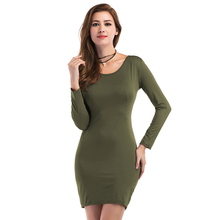 Buy 2017 Autumn Long Sleeve O-neck Women Pencil Dress Black Red Color Party Bodycon Dress Elegant Female Sexy Dresses vestidos mujer for $8.90 in AliExpress store