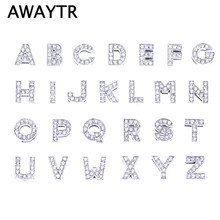 Buy AWAYTR 10pcs 8MM Full Rhinestone Slide Letters Charms A-Z Alphabet Slide Bead Charms DIY Wristband & Bracelet Accessories for $1.09 in AliExpress store