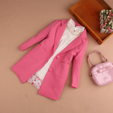 2017 New Autumn Children Clothing Kids Suits Jacket for Girls Brand Coat Trench Sweet Girl Blazers Kids Clothes Age 3-16T