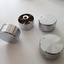 4PCS Rotary switch gas stove parts gas stove knob zinc alloy round knob with chrome plating for gas stove