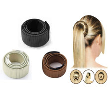 Buy Synthetic Wig Donuts Bud Head Band Ball French Twist Easy Magic DIY Bun Hair Maker Tool Bun Nail Hair Roller Styling Accessories for $1.23 in AliExpress store
