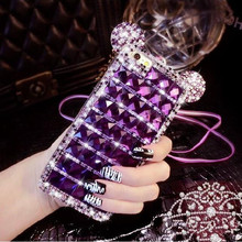 3D Mickey Mouse Bling Diamond Rhinestone TPU silicon Case for Samsung Galaxy A3 2016 A5 2016 A7 2016 phone Case Cover With chain