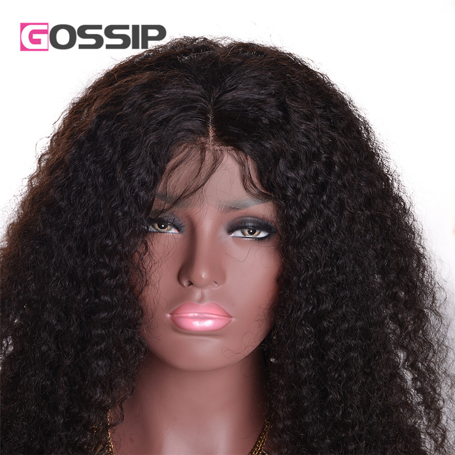 altLace Front Human Hair Wigs With Baby Hair 8A 130% Density Glueless Kinky Curly Lace Wig Malaysian Virgin Hair Full Lace Wigs