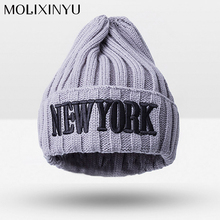 MOLIXINYU2017 Fashion Kids Warm Winter Hat Skuilles Beanies Cap For Boy/Girl Warm Cap Baby Thick Hat Children Cotton Knitted Cap(China)