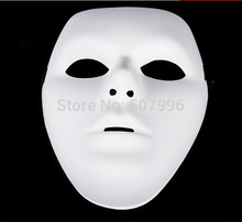 5pcs/lot Jabbawockeez Mask White Hip-hop Mask men's Mask Street Step Dance Halloween Costume Ball Masquerade Party D-1549men(China)